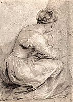 The Girl Squatted Down, 1618, rubens