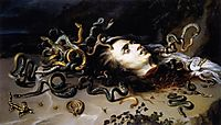 The head of Medusa, 1617, rubens
