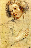 Head and Right Hand of a Woman, rubens