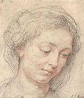 Head of woman, c.1632, rubens