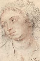 Head of woman, c.1632, rubens