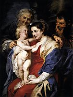 The Holy Family with Saint Anne, 1630, rubens