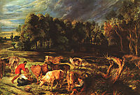 Landscape with cows, 1636, rubens