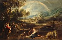 Landscape with rainbow, 1632-35, rubens