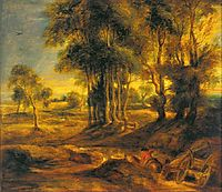 Landscape with the Carriage at the Sunset, 1635, rubens