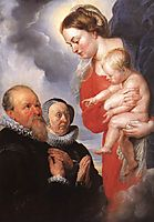 Madonna and Child with the Donors Alexandre Goubeau and his wife Anne Antoni, c.1604, rubens