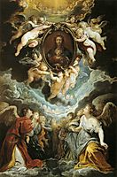Madonna della Vallicella Adored by Seraphim and Cherubim, 1608, rubens