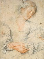 Portrait of a young woman, 1630-36, rubens