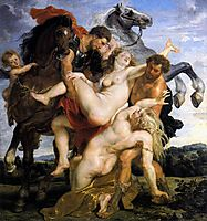 Rape of the Daughters of Leucippus, c.1618, rubens