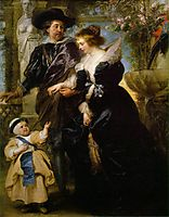 Rubens, his wife Helena and their son Peter Fourment Paul, 1639, rubens