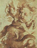 Saint George Slaying the Dragon, 16, rubens