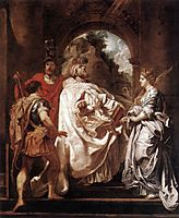 St Gregory the Great with Saints, 1606, rubens
