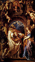 Saint Gregory with Saints Domitilla, Maurus, and Papianus, 1607, rubens