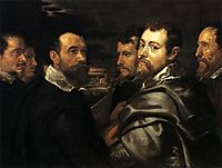 Self Portrait in a circle of friends from Mantua, 16, rubens