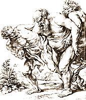 Silenus (or Bacchus) and Satyrs, c.1616, rubens