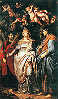 St. Domitilla with St. Nereus and St. Achilleus, 1608, rubens
