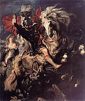 St. George and a Dragon, c.1610, rubens