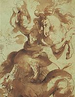 St. George Slaying the Dragon, rubens