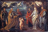 St. George with Martyrs Maurus, Papianus, Domitilla, Nerus and Achilleus , 1608, rubens