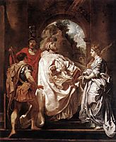 St. Gregory the Great with Saints, 1606, rubens