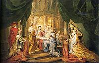 St. Ildefonso Receiving a Priest Cloak, rubens