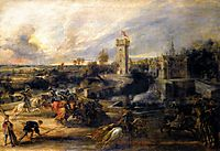 Tournament in front of Castle Steen, 1635-37, rubens