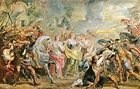 Truce between Romans and Sabinians, rubens