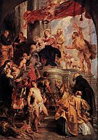 Virgin and Child Enthroned with Saints, 1628, rubens