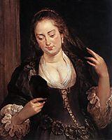Woman in mirror, 1640, rubens