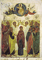 Ascension of Jesus, 1408, rublev