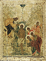 Baptism of Christ, c.1405, rublev