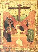 Deposition to tomb, 1427, rublev