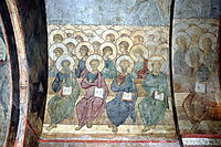 The Last Judgement: Angels and apostles, 1408, rublev