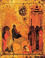 Lord-s entry into Jerusalem, 1405, rublev