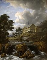 Landscape with a Church by a Torrent, 1670, ruisdael