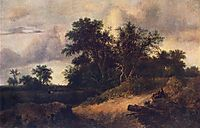 Landscape with a House in the Grove, 1646, ruisdael
