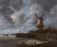 Tower Mill at Wijk bij Duurstede, Netherlands, 1670, ruisdael