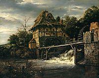 Two Undershot Watermills with Men Opening a Sluice, 1650, ruisdael