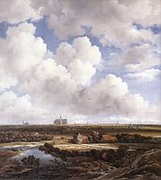 View of Haarlem with Bleaching Grounds, 1665, ruisdael