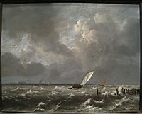 View of the Ij on a Stormy Day, 1660, ruisdael