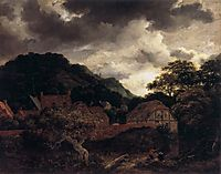 Village at the Wood-s Edge, 1651, ruisdael