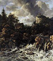 The Waterfall, 1670, ruisdael