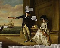 Captain and Mrs Hardcastle, 1785, russell