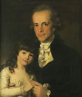 Colonel James Capper and His Daughter, 1782, russell