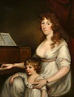 Portrait of a Lady with Her Child, 1798, russell