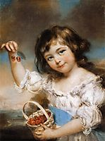 Small Girl Presenting Cherries, 1780, russell