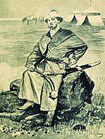 Alyosha Popovich. Illustration for the book , 1895, ryabushkin