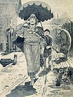 Churilo Plenkovich. Illustration for the book , ryabushkin