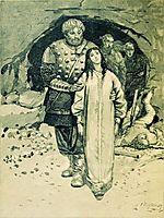 Dobrynya Nikitich. Illustration for the book , 1895, ryabushkin