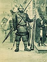 Ilya of Murom. Illustration for the book , 1895, ryabushkin